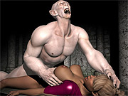 Busty blonde dreaming of 3d demon sex