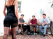 French pornstar Vivienne Fovea group anal and double penetration