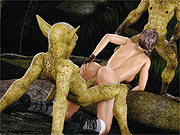 Creature sex with a busty 3d woman