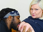 Granny Lacey Starr fucking a black man