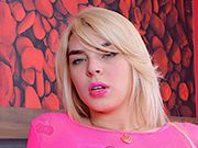 Blonde tgirl Carol Penelope get her asshole stuffed with a fat dick