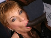 Milf Gemma More in an interracial anal fuck action