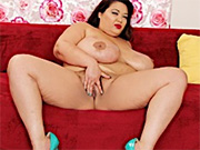 Asian plumper gets naked and spread her pussy for your viewing pleasure