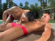I love red speedos and I love blowjobs... this video was made for me.