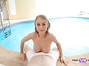 Ukrainian goddess gets banged POV style by the swimming pool