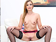 Sexy housewife gets naked and suck a fat dick so good
