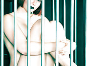 Pale Skinned Redhead Cutie Eidyia Locked Naked in a Cage