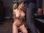Stella Cox britsh bombshell bound in rope and fucked by maledom