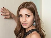 Young ladyboy Wai wonders why you're not on bed with her sucking her dick