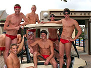 It is great seeing guys just hanging out in their speedos.