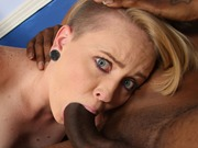 Naughty Miley May in an interracial mmf sex action