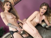 Live strap-on fuck party with hot lesbians