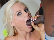 Blonde cougar Alena Croft on huge cocks in an orgy