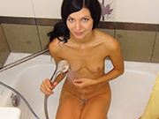 Casting nudes of sexy skinny beauty Lina at home