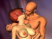 Redhead girl with big tits was fucked hard by boyfriend