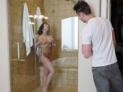 Voyeur step-son caught and fucked by sexy Christiana Cinn