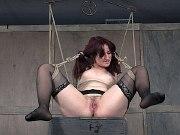 Ariel Blue in black garter stockings rope bound after poor sales
