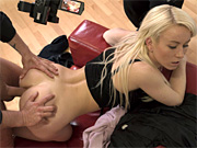 Blonde vixen gets her tight ass pounded at a sex casting