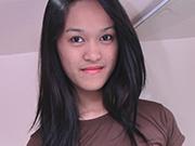 Shy looking nude filipina girl friend posing nude