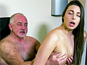 Hot young babe fucked by her older uncle