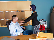 Hot latina Chloe Amour enjoys a big schlong in the office