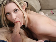 Alexis Taylor hot milf blonde sucks and fucks close up