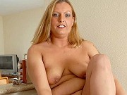 Chubby mature blonde Alexys getting naked in kitchen and showing pussy