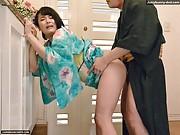 Hot kimono and fetish sex with Harua Narimya