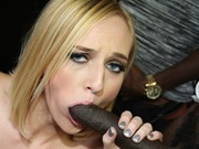 Blonde beauty Kate England in interracial gangbang