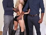 Nikky Thorne Used by Three Big Black Cocks
