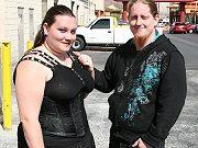 Fat bigtits brunette slut Menoly giving a blowjob and getting boned