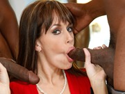 Cougar Alana Cruise in interracial anal group fuck