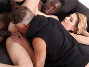 Swinger wife gets naked and let a black stud fuck her pussy and ass