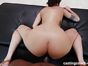Hot cam girl makes her debut in porn by fucking a hung black dude