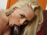 Blonde milf Alena Croft rides a bbc in sex actions