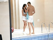 Anissa Kate and the Swimmer's Anal Training