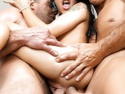 Squirting Holly Hendrix - Double Anal Threesome