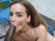Horny Natasha Nice enjoys a black cock in anal sex