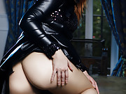 Cosplaying redhead fucks and sucks a POV dick for jizz on her butt