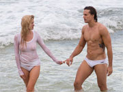 Beach photo shoot for two amazingly hot Aussie models.