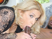 Blonde busty cougar Alyssa Lynn fucking with black