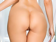 Cybergirl Olivia Preston sexily peels off her lace lingerie