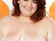 Cute and chubby gets gets naked and display her chubby pussy and juicy tits
