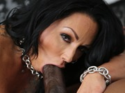 Milf Ashton Blake enjoys a black cock in anal fuck