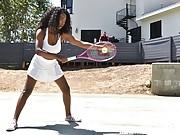 Black beauty Daya Knight on a hard dick after Tennis