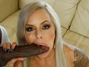 Blonde Nina Elle in an interracial fuckin on a bbc