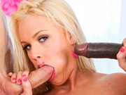 Cute Roxy Raye in a threesome anal sex and facials