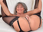 Leilani Lei tinytits mature blonde poses in black stockings