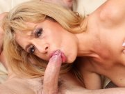 Older babe Stevie Lix gets fucked hard and jizzed on