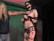 Penelope Davenport on high heels bound and ass spanked by maledom